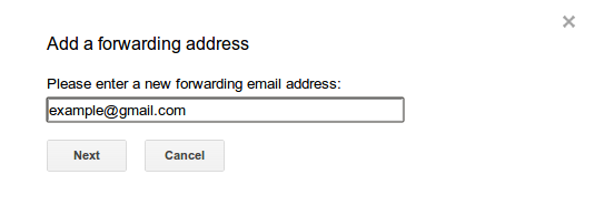 Add Forwarding Email Address